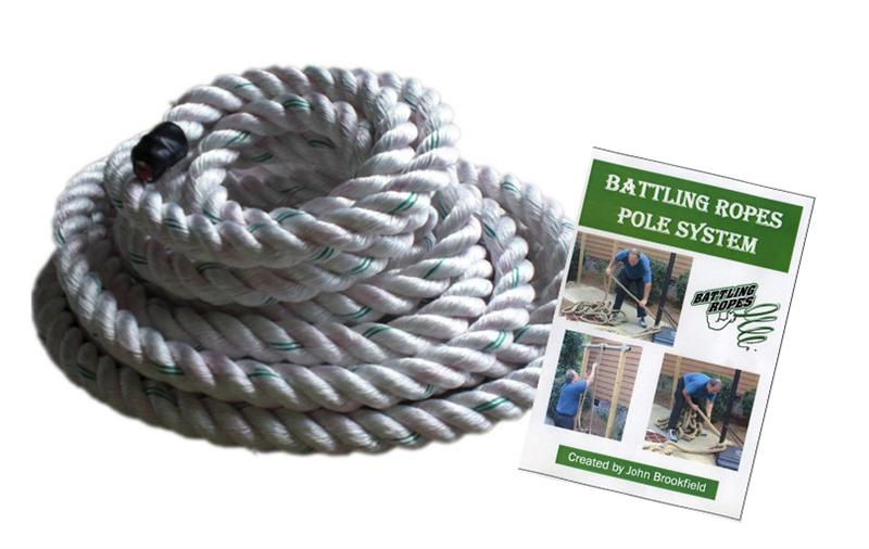 Battling Ropes Polyester Rope & Training DVD Combo