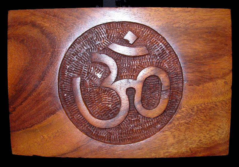 Hand Made Om Symbol wooden Box