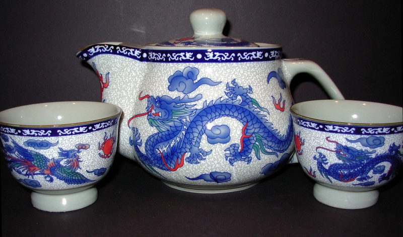 Phoenix & Dragon Tea Set