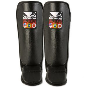 Bad Boy Leather Shin/Instep Guards